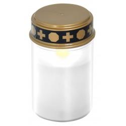 Lumino votivo riutilizzabile a batterie 2aa incluse bianco