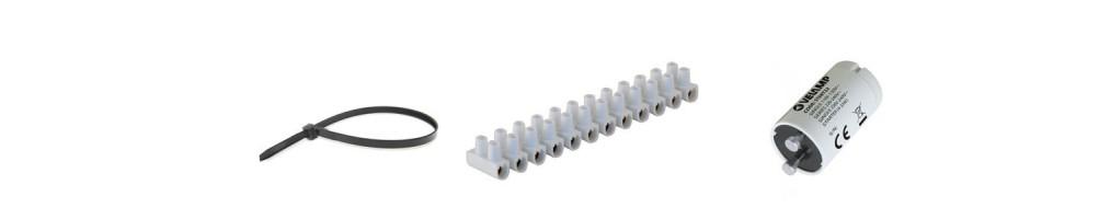 Borniers de raccordement, serre-câbles en nylon et accessoires