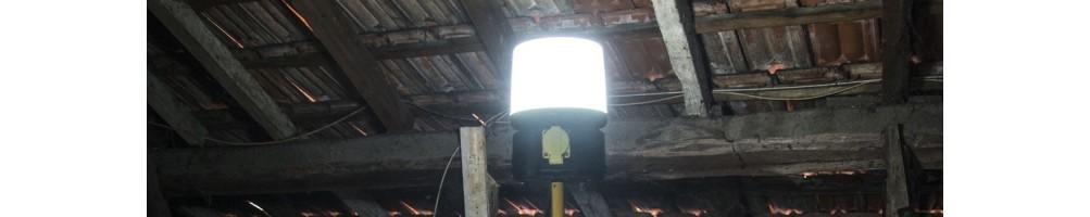 Luces de 360° para sitios de obras