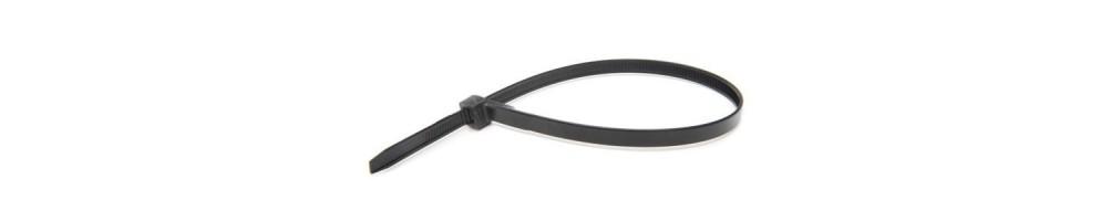 Serre-câbles noirs en nylon
