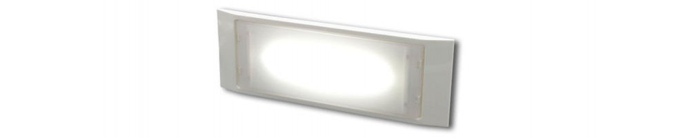 Wall mounted emergency lights