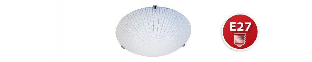E27 glass ceiling lamps