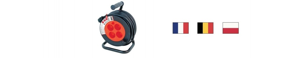 France, Belgium, Poland cable reels
