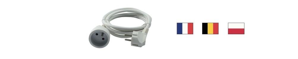 France, Belgium, Poland extension cords