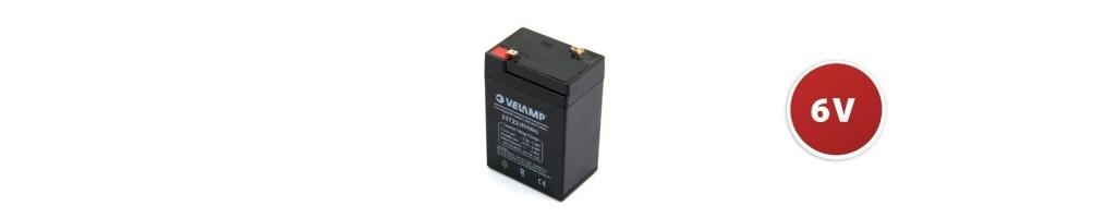 Batterie ricaricabili al piombo 6v