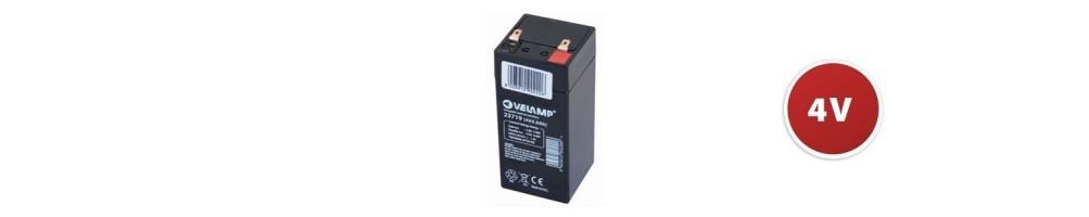 Batteries rechargeables au plomb 4V