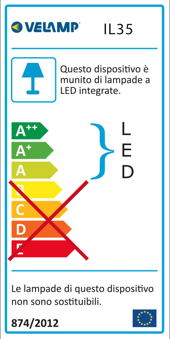 Energy Label Punto luce led con interruttore on/off dropled