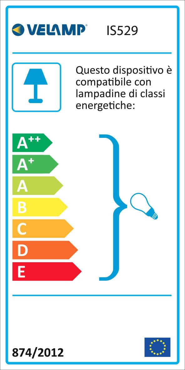 Energy Label Lampada da lavoro con cavo pvc 10 mt e gabbia metallica workshop
