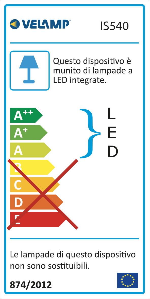 Energy Label Lampada da lavoro led con tubo led e cavo pvc 5 mt workshop