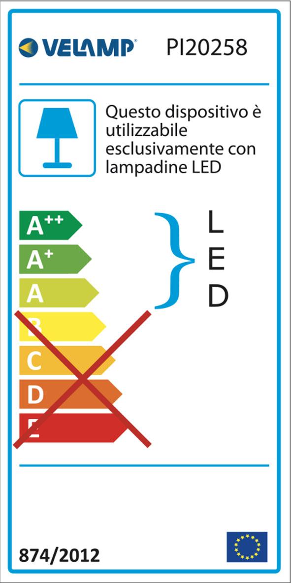 Energy Label Plafoniera per 2 tubi led t8 150cm da interno