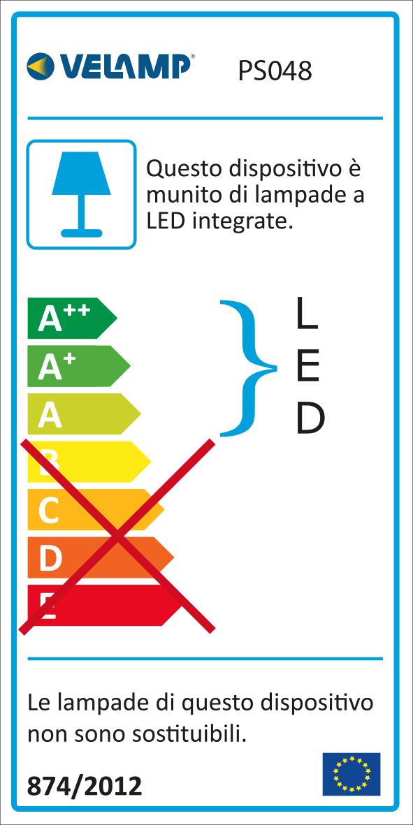 "Energy Label Catenaria IP44 prolungabile, 7.5mt, 10 bulbi LED ""filament"", nero"