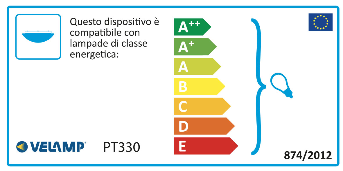 Energy Label Plafoniera in alabastro diametro 30cm 1xe27 sirio bianco