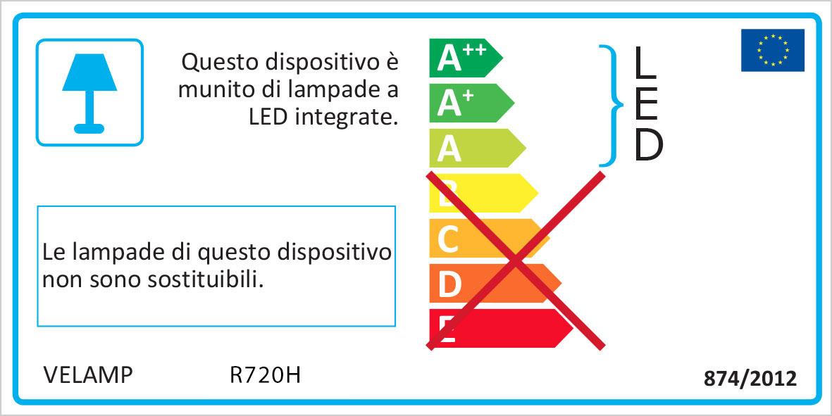 Energy Label Punto luce con pir + luce anti black out + torcia led spina orizzontale europea