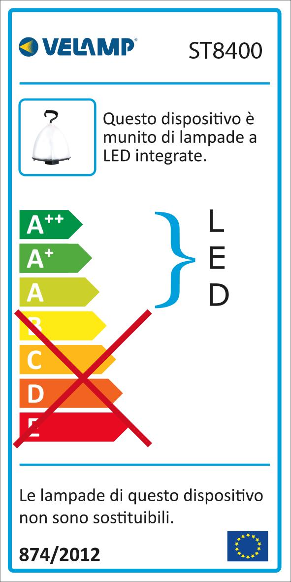 Energy Label Pallone luminoso led 120w cavo 5m e 3 prese di servizio balloon