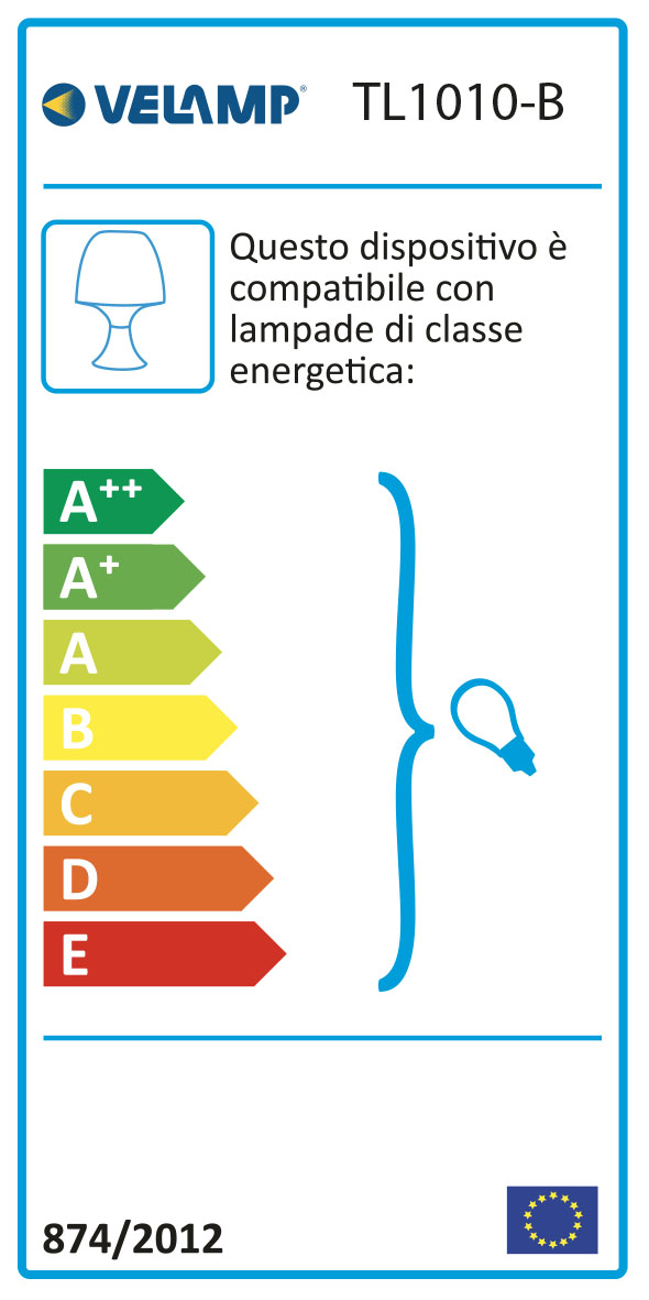 Energy Label MUSHROOM: Lampada da tavolo bianca con attacco E14