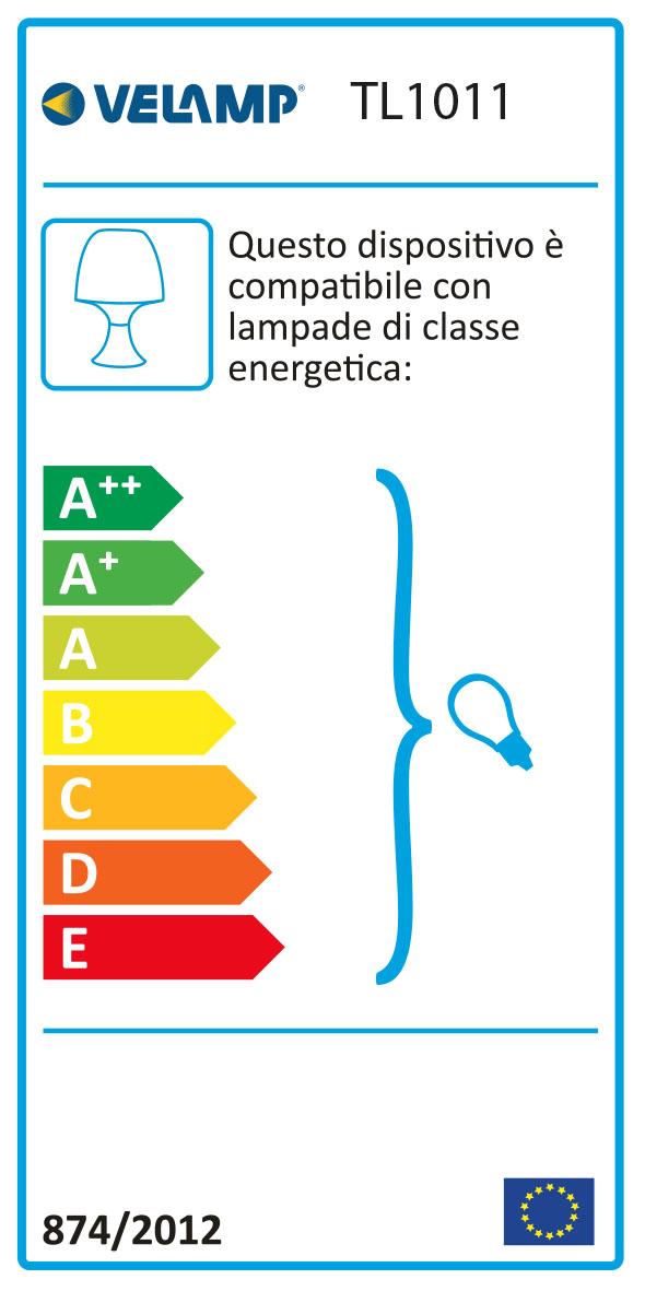 Energy Label MUSHROOM: Lampada da tavolo rosa con attacco E14