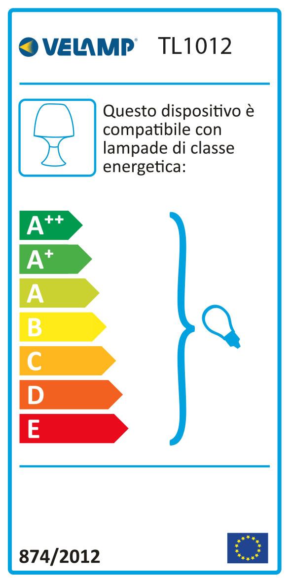 Energy Label MUSHROOM: Lampada da tavolo blu con attacco E14