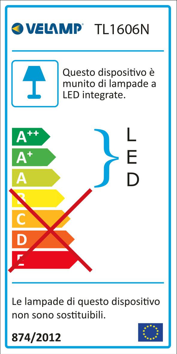 Energy Label Lampada da scrivania led 6w interruttore touch slim nero